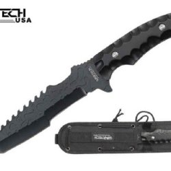 "Wartech ""Equalizer"" Fixed Blade Tanto Knife - Black"
