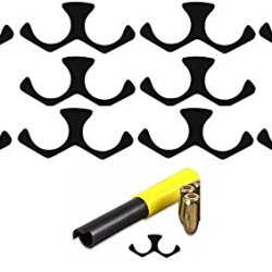 Ranch Products 10 Pack Of .45 Acp Governor Caliber Moon Reusable Lightweight Clips 2 Round Rd Shot Blued Steel Fits Smith & Wesson S&W Governor Revolvers + Ultimate Arms Gear Unloading Unloader Extraction Extractor Tool With Yellow Rubber Handle Cap - Usa