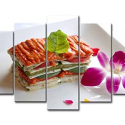 5 Panel Wall Art Painting Tasty Food Purple Flower Pictures Prints On Canvas Food The Picture Decor Oil For Home Modern Decoration Print