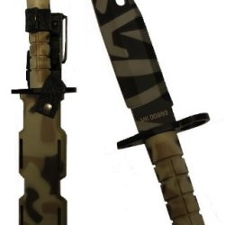 Ultimate Arms Gear Tactical Limited Edition British Multi Terrain Camo Camouflage M9 M-9 Military Survival Tiger Stripe Tigerstripe Blade Bayonet Knife With Tactical Sheath Scabbard