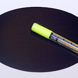Magnetic Backed Kitchen Or Office Ziggyboard Chalkboard With Yellow Chalk Marker 6 X 9 Inch Ty Euro Oval Shape