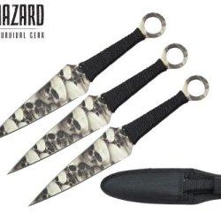 "Biohazard 9"" 3 Pcs Set Zombie Throwing Knife"
