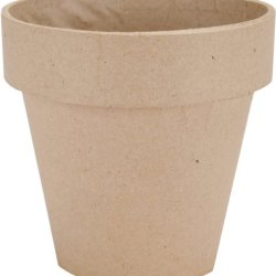 "Paper Mache Flower Pot - 5"" *** Product Description: Paper Mache Flower Pot - 5"". Paper Mache Lends Itself Well To Embellishments With Beads Buttons Ribbons And Rhinestones. This Flower Pot Is, Therefore, Great To Reflect An Elegant Decor. Diamet ***"