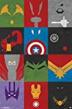 Trends International Avengers Minimalist Grid Rolled Poster, 22 by 34-Inch