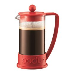 Bodum Brazil French Press 3 Cup Coffee Maker Cafetiere 0.35L / 12Oz Red