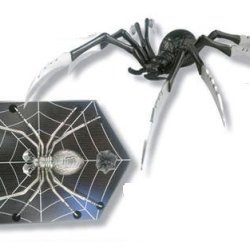 """Fm-400B Widow Spider Q2Liruvydk Fantasy Upwwbf Dagger With Stand Ayeuiu56 Hlbv23Rt 12 1/2"""" Overall In Length. Cast Metal Black Widow Spider With 8"""" Stainless Ubhewc4 Steel Blades. Gwmbk Includes Custom Wooden Display Stand With Web Etching."""