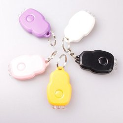 3 Led White Light Portable Laser Keychain Light Five-Color ; Yellow Color
