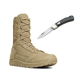 "Danner 50120 Tachyon 8"" Tactical Military Boots - With Free Pocket Knife (10.5, Tan)"
