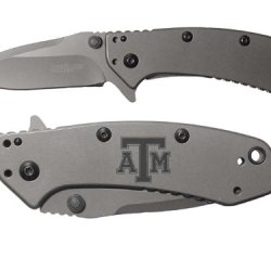 Tx Texas A&M V1 Engraved Kershaw Cryo 1555Ti Folding Speedsafe Pocket Knife By Ndz Performance
