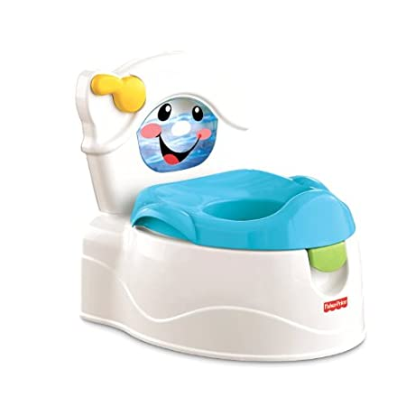 The learn to flush potty has it all and is even more deluxe than our very popular cheer for me potty. The real fun is in the flushing action. When the child flushes the potty, the tank water feature lights up and pretend water twirls around to a real...