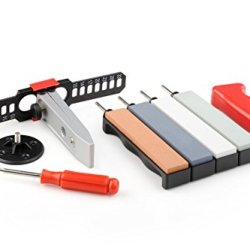 Taidea 4 Stone Corundum Whetstone Knife Sharpening System Kit 240 / 480 / 600 / 1000 Grits
