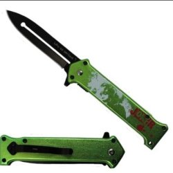 "The Joker"" Ao ""Why So Serious ?"" Folding Knife Green"