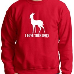 I Love Them Does, Funny Hunting Premium Crewneck Sweatshirt Large Deep Red