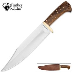 Timber Rattler Rosewood Hunting Bowie