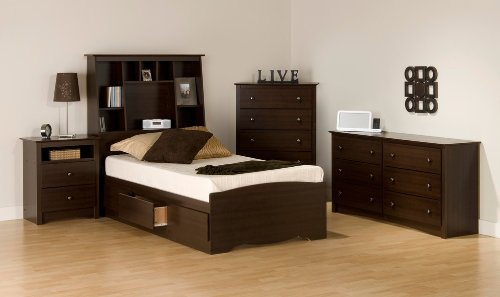 Image of Kids Bedroom Furniture Set 2 in Espresso - Fremont - Prepac Furniture - FRE-KBSET-2 (FRE-KBSET-2)