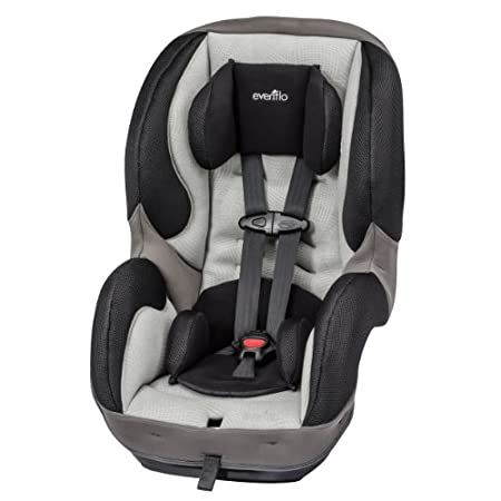 Evenflo SureRide DLX Convertible Car Seat, Paxton Rear-facing for infants, and when ready, converts to forward-facing Keep your child harnessed longer with the broadest range of harness adjustments. With 6 harness height positions, 2 crotch buckle p...
