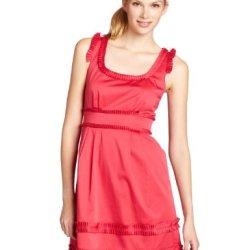 Maxandcleo Women'S Betty Cotton Pleated Dress, Brick, 14