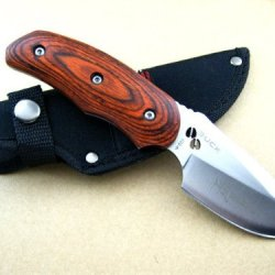 Buck Tactical Outdoor Survival Camping Knife Fixed Knife Solid Wood Handle