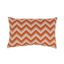 Pillow Perfect Chevron Rectangular Throw Pillow, Grapefruit