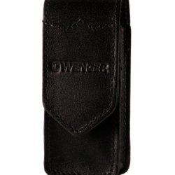 Wenger 89809 Leather Universal Smooth Leather Knife Carry Pouch, Black, Medium