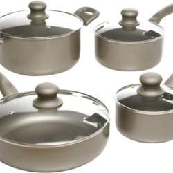 Oster 91910.08 Progreso 8-Piece Cookware Set, Gold