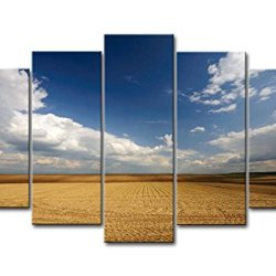 5 Panel Wall Art Painting Void Field Sky Prints On Canvas The Picture Landscape Pictures Oil For Home Modern Decoration Print Decor