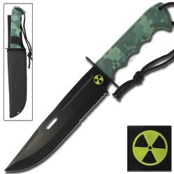 Beastmaster Tactical Zombie Killer Combat Bowie Survival Knife