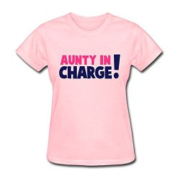 Jowen Women'S Aunty Charge T-Shirt,Short Sleeve Tee Shirts