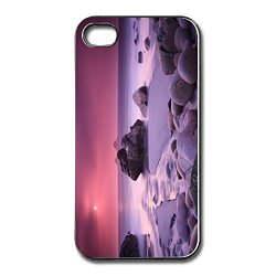 Blank Capdase Purple Sunset Cell Phone 4 Cover