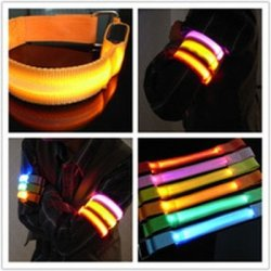 Led Armbands Reflective Bands Flashing Safety Velcro Arm Bands Bicycle Armbands Yellow