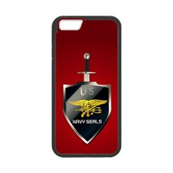 """Jdsitem U.S. Navy Seals Simple Red Pattern Case Cover Sleeve Protector For Phone Iphone 6 4.7"""" (Laser Technology)"""