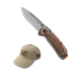 Benchmade 15031-2 Hunt Series North Fork Folding Knife Wood Handle With Free Velcro Khaki Hat