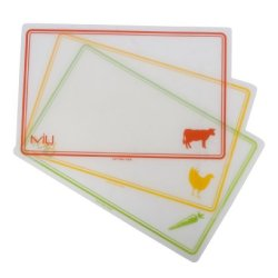 Miu France Color-Coded Flexible Cutting Boards, Set Of 3