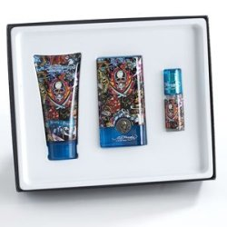 Ed Hardy Hearts & Daggers Cologne Gift Set For Men 1.7 Oz Eau De Toilette Spray