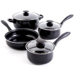 Gibson Home 91945.07 Callisburg 7-Piece Cookware Set, Black