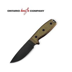 Ontario Knife Company 8631 Rat-3 Knife (Plain Edge) W/Sheath