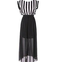 Lolli Womens Summer One Piece Short Sleeves Maxi Dress