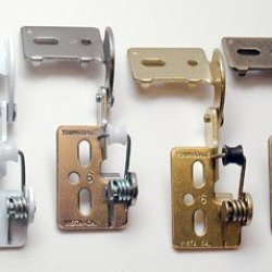 "Youngdale 1/2"" Overlay Self Closing Knife Hinge For 5/8"" Minimum Thickness Door Polished Brass"