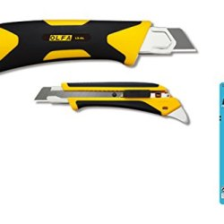 Olfa L5-Al 18Mm Heavy Duty Cutter With An Automatic Blade Lock And 10 Free Spare Blades