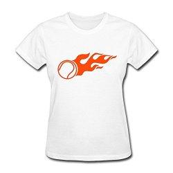 Women Tennis Fire Online T Shirt Size Xs Color White