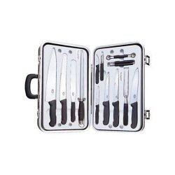 Victorinox 14-Piece Gourmet Cutlery Set, Fibrox Handles With Attache Case