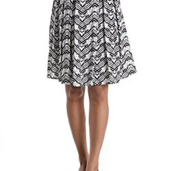 Reneec. Women'S And Ladies Knife Pleat Skirt Above Knee Medium Black And White