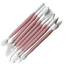 Lumramus Diy Eight Pink Sets Of Sugar Flowers Molding Tools