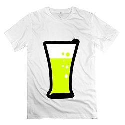 Man Beer 3 T-Shirt - Vintage Custom White T Shirt