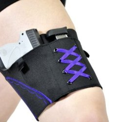 "Can Can Concealment Garter - Women'S Concealed Carry Holster (Purple, Small 16""-19"")"
