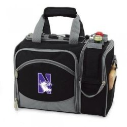 Northwestern Wildcats Malibu Insulated Picnic Shoulder Pack/Bag - Navy W/Embroidery