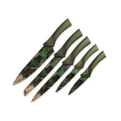 Rivers Edge Products Knife Set (5-Piece), Green