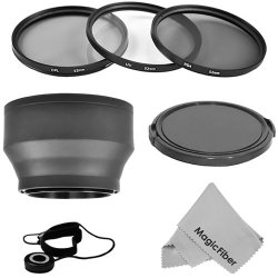 Essential Accessory Kit For 52Mm Nikon Dslr Cameras Including D5100 D5000 D3200 D3100 D3000 D90 D80 - Includes: Filter Kit (Uv Cpl Nd8) + Soft Rubber Lens Hood + Snap-On Lens Cap W/ Cap Keeper + Premium Magicfiber Microfiber Cleaning Cloth