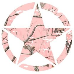 Jeep Sticker Pink Camo