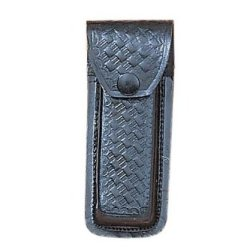 5 Inch Black Leather Engraved Knife Sheath
